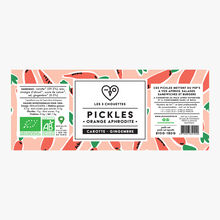 Pickles bio, Orange Aphrodite,  carotte gingembre Les 3 chouettes