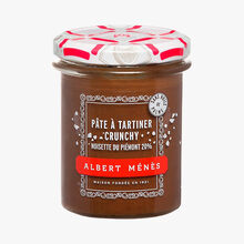 Pâte à tartiner crunchy - Noisettes du Piémont 20 % Albert Ménès