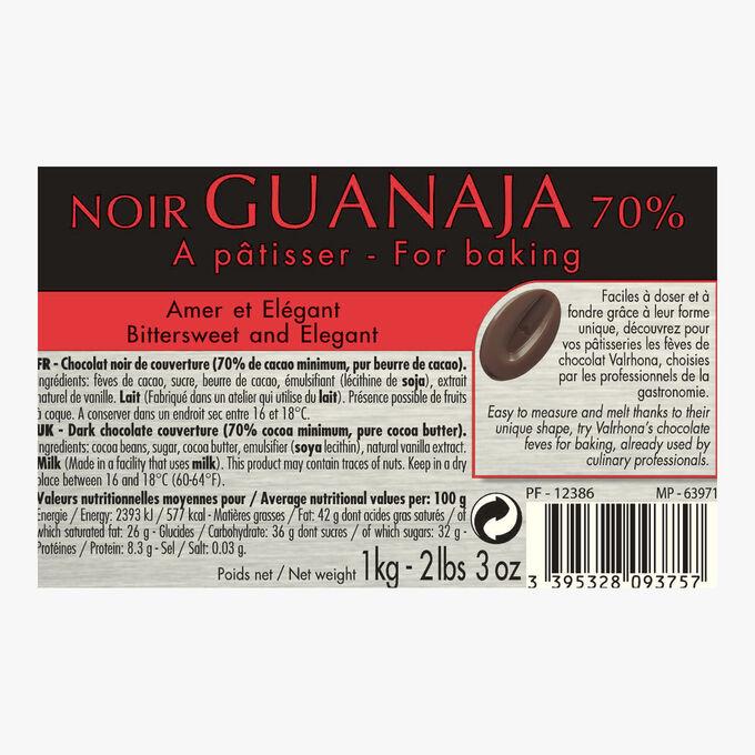 Noir Guanaja, chocolat noir 70%, à pâtisser Valrhona