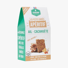 Les Petits Carrés aperitifs - Garlic peanut Granomy