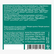 Lov is Green Infusion de légumes et fruits boîte de 20 sachets mousseline Lov Organic