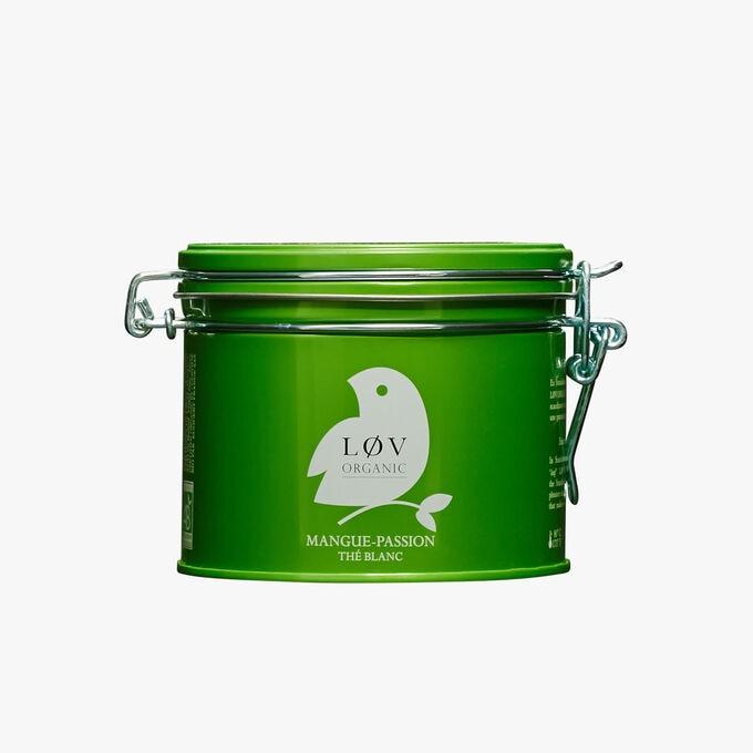 Mango-Passion white tea, metal tin Lov Organic