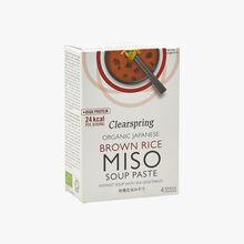 Soupe concentrée instantanée au miso de riz complet biologique Clearspring