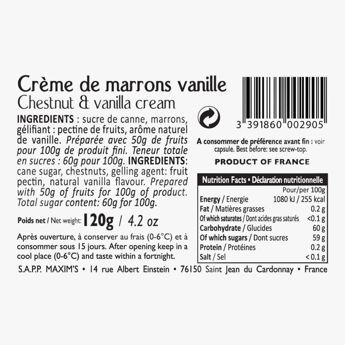 Vanilla chestnut spread Maxim's
