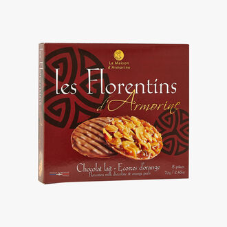 Armorine Milk Chocolate Florentines with orange zest La Maison d'Armorine