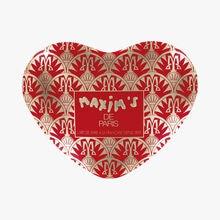 Boîte coeur rouge tendres chocolats au cœur de nougat fondant, amandes et miel Maxim's