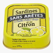 Sardines sans arêtes à l'huile d'olive vierge et au citron Conserverie la Belle-Iloise