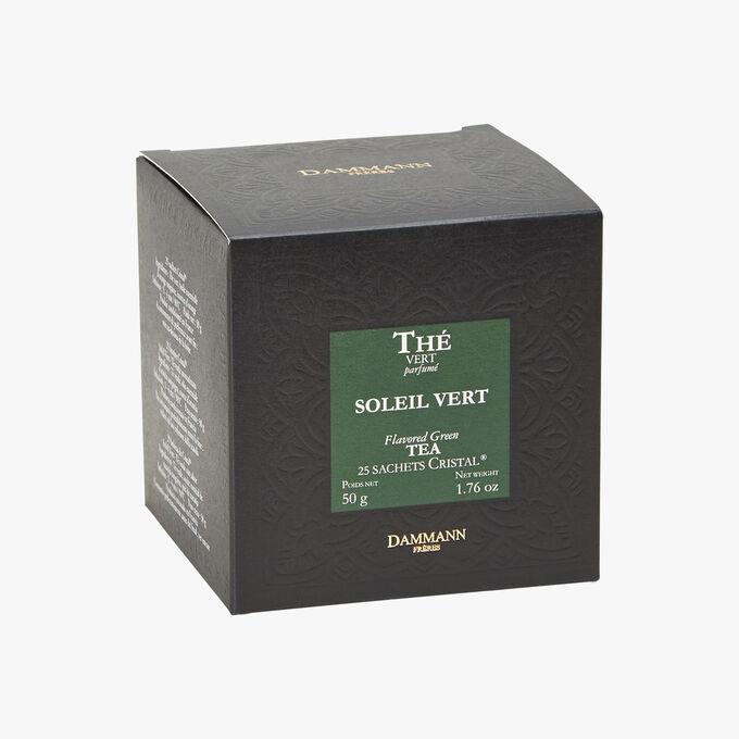 Thé vert parfumé Soleil Vert - Boîte de 25 sachets Dammann Frères