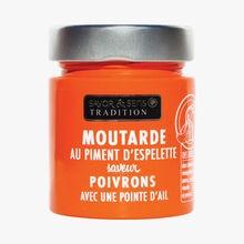 Moutarde au piment d'Espelette saveur poivrons et ail Savor & Sens