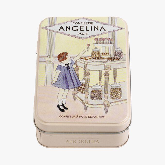 Caramels au beurre salé, boîte en fer Angelina