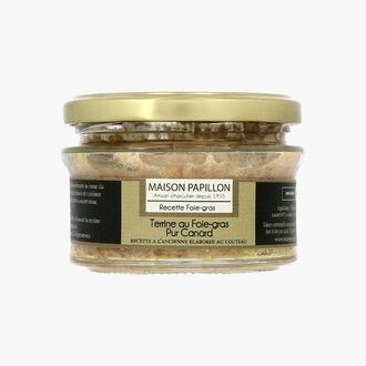 Terrine au foie gras pur canard Maison Papillon