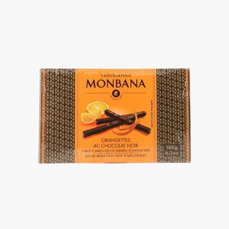 Dark chocolate orangettes Chocolaterie Monbana