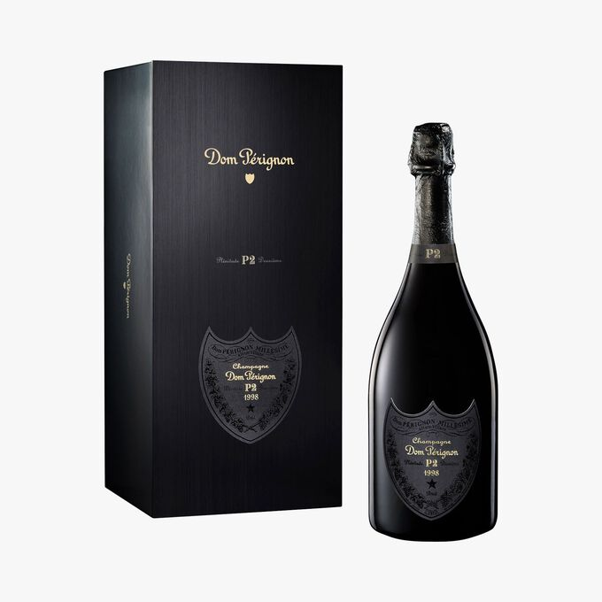 Brut Champagne in a box set of Dom Pérignon P2 1998 Dom Pérignon