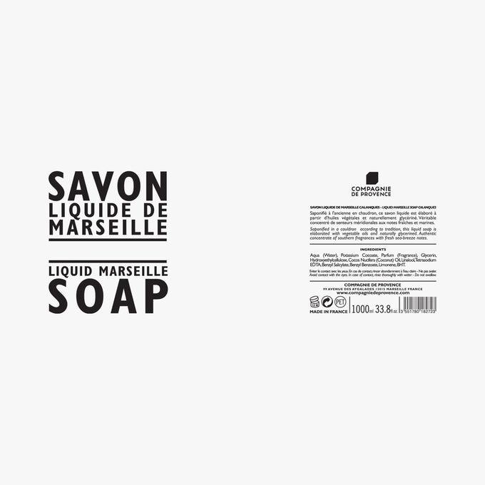 Recharge savon liquide de Marseille Calanques Compagnie de Provence
