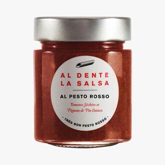 Al Pesto Rosso, tomates séchées et pignons de pins entiers Al dente la salsa