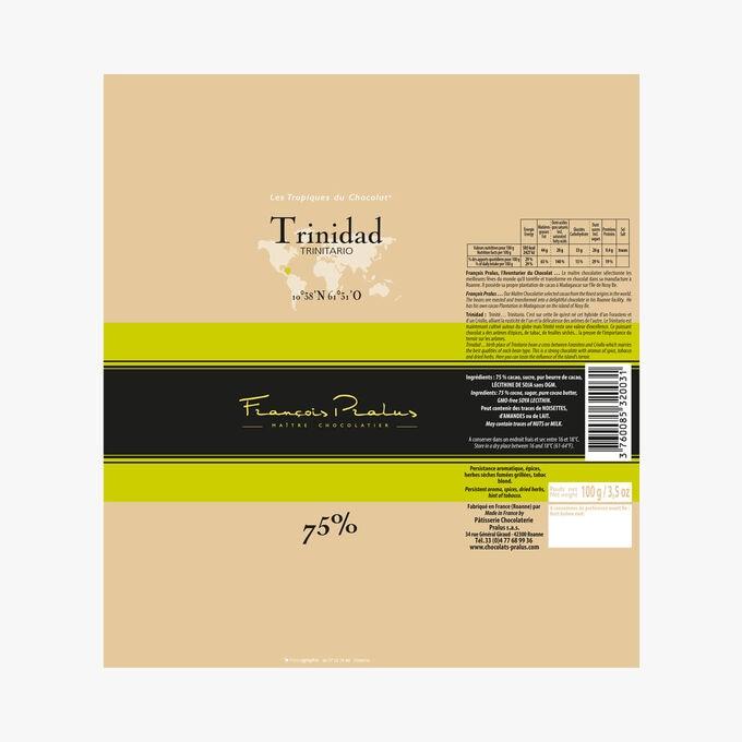 Tablette Chocolat Trinidad 75% Pralus