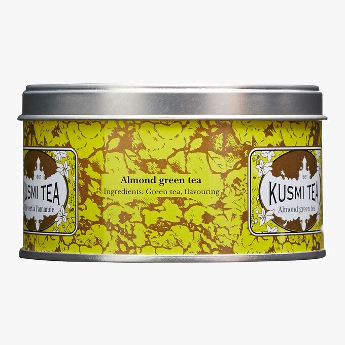 Thé vert à l'amande boîte métal Kusmi Tea