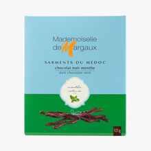 Dark chocolate twigs with natural mint extract Mademoiselle de Margaux