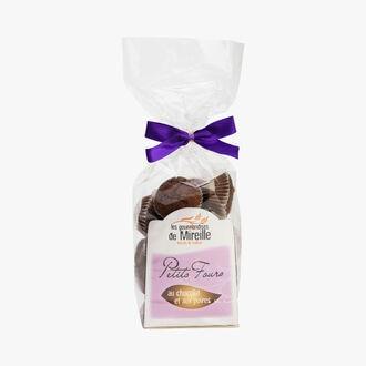 Chocolate and pear petits fours Les Gourmandises de Mireille