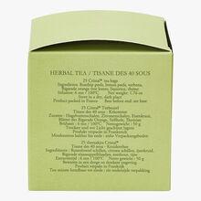 Tisane des 40 Sous - Boîte de 25 sachets Dammann Frères
