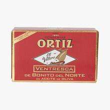 Ventrèche de thon blanc germon à l'huile d'olive Ortiz