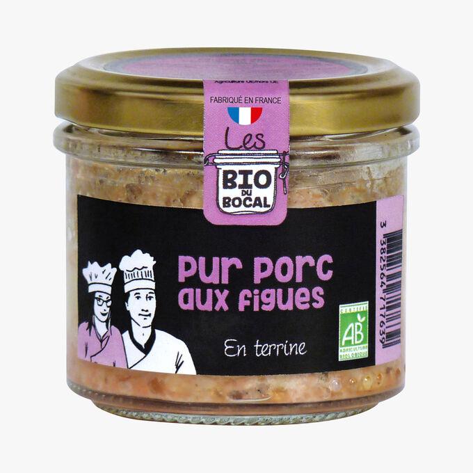 Terrine pur porc aux figues Bio du bocal