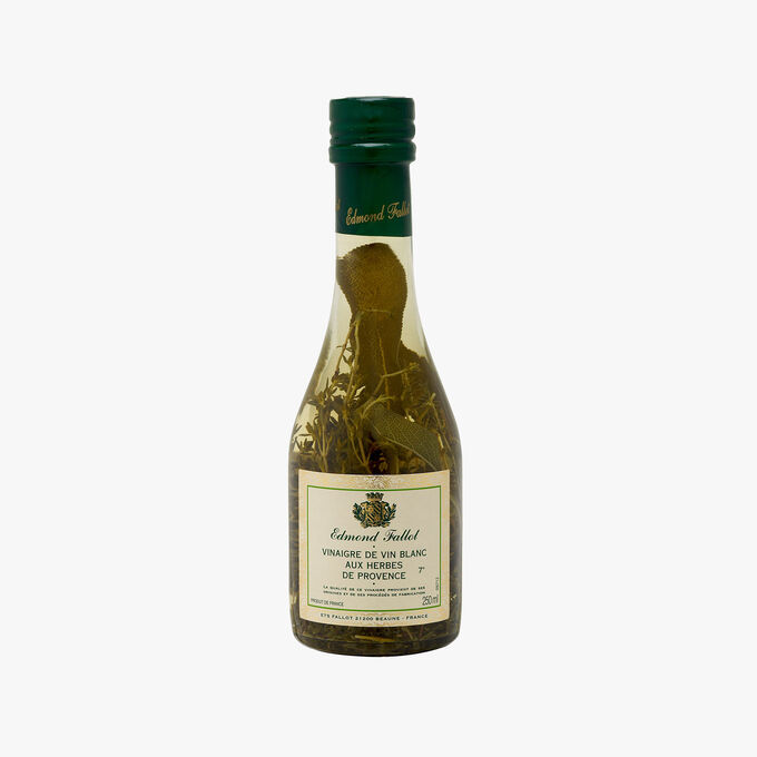 White wine vinegar, 7 % acidity, with herbes de Provence Fallot