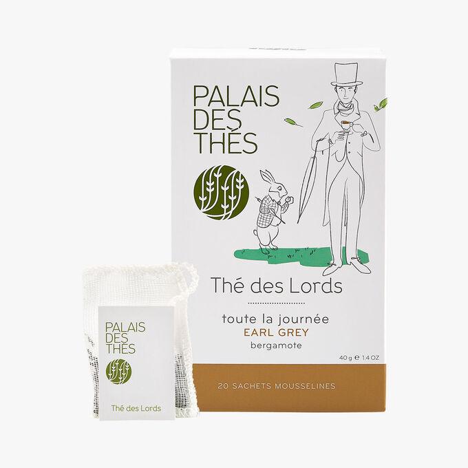Thé des lords, earl grey, bergamote, 20 sachets mousselines Palais des Thés