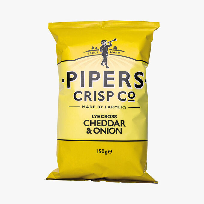 Chips cheddar oignons Pipers Crisp Co