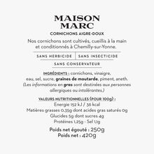Sweet-and-sour gherkins Maison Marc