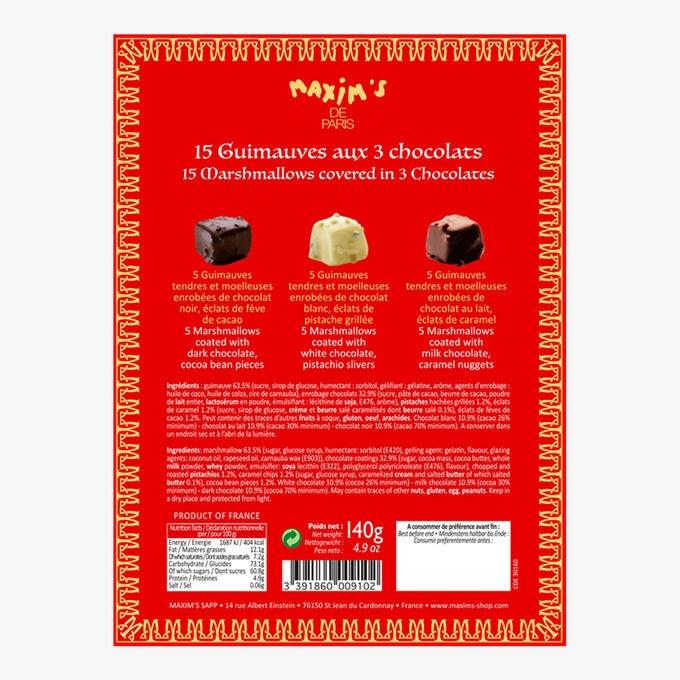 Coffret 15 guimauves aux 3 chocolats Maxim's