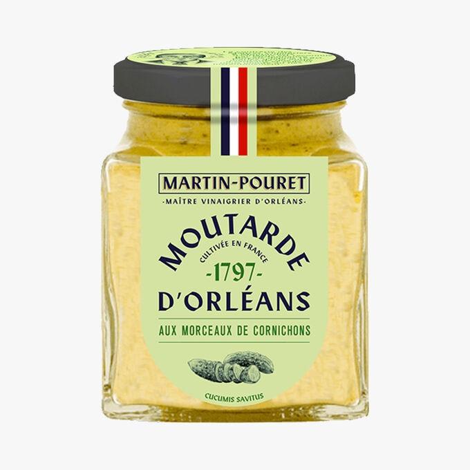 Moutarde d'Orléans aux morceaux de cornichons croquants Martin Pouret