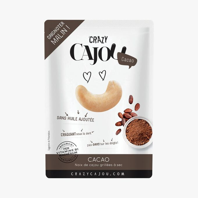 Dry-roasted cashews with cocoa Crazy Cajou
