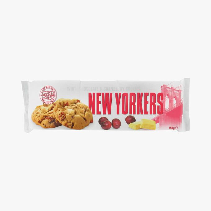 Cookies chocolat blanc et cranberry New Yorkers