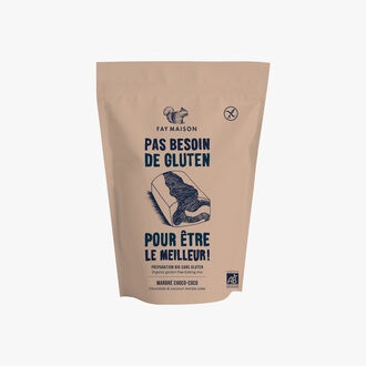 Gluten-free organic mix for choco-coco marble cake Fay Maison