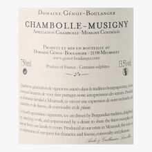 Domaine Génot-Boulanger, AOC Chambolle-Musigny, 2014 Domaine Génot-Boulanger
