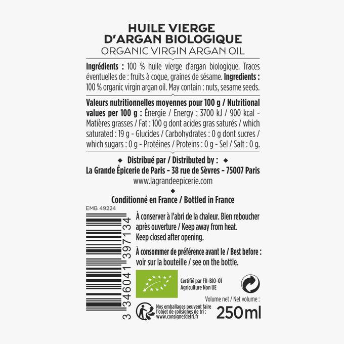 Huile vierge d'argan biologique La Grande Épicerie de Paris