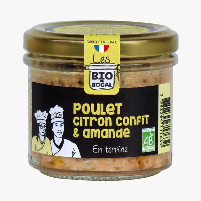 Chicken terrine with lemon confit and almonds Bio du bocal