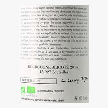 Domaine Leroy, PDO Bourgogne aligoté, 2014 Domaine Leroy