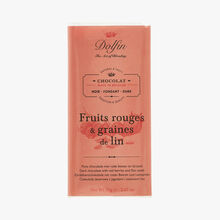 Dark chocolate - Red fruit & linseed Dolfin