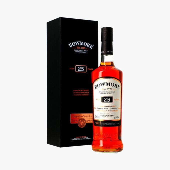 Whisky Bowmore, 25 years old, étui Bowmore