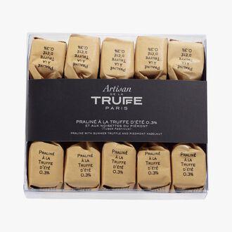 Pralines with summer truffles 0.3% (Tuber Aestivum) and Piedmont hazelnuts Artisan de la truffe