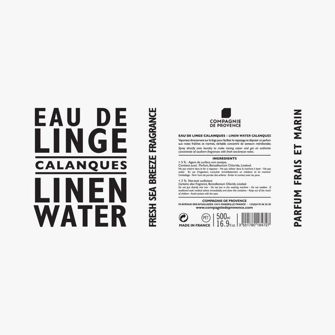 Calanques linen water Compagnie de Provence