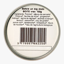 "Organic cinnamon cardamom infusion ""Before un big dodo"" Oh my tea !"