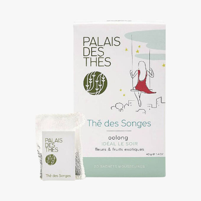 Thé des songes, oolong, fleurs et fruits exotiques, 20 sachets mousselines Palais des Thés