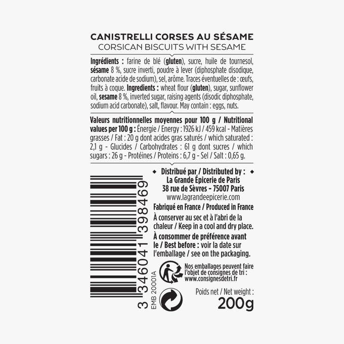 Canistrelli corses au sésame La Grande Épicerie de Paris
