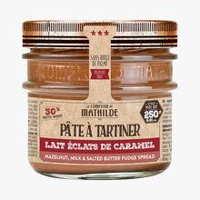 Pâte à tartiner lait noisette aux éclats de caramel beurre salé Le Comptoir de Mathilde