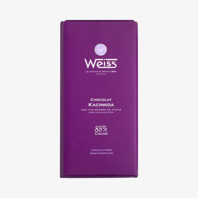 Dark chocolate bar Kacinkoa 85 % Weiss