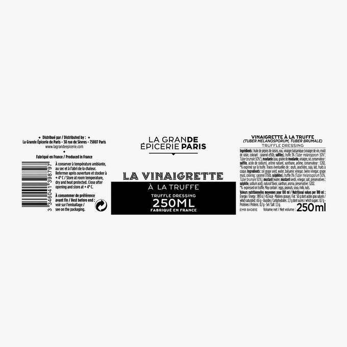 Truffle vinaigrette (Tuber Melanosporum, Tuber Brumale) La Grande Épicerie de Paris