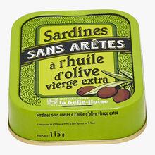 Sardines sans arêtes à l'huile d'olive vierge extra Conserverie la Belle-Iloise